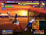 The King of Fighters '99: Millennium Battle PlayStation Iori Yagami did his switch-side move Kuzukaze in Yuri Sakazaki: now, which will be his next action?