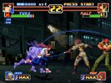 The King of Fighters '99: Millennium Battle PlayStation Yuri Sakazaki uses his DM Hien Hou'ou Kyaku to try surpass Whip's Striker offensive... And she gets!