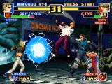 The King of Fighters '99: Millennium Battle PlayStation Even helped by Maxima, Benimaru Nikaido fails in the attempt of hitting King with his Raikou Ken...