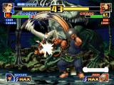 The King of Fighters '99: Millennium Battle PlayStation Chang Koehan's move Tekkyuu Taiko Uchi successfully reversing Robert Garcia's Ryuu Zanshou effect.