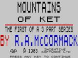 Mountains of Ket ZX Spectrum Title screen