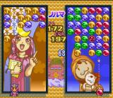 Magical Drop II SNES The backgrounds change whenever your character pops a group of bubbles