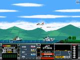 Jetstrike DOS A naval attack mission; the jet here is firing missiles at boats.