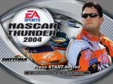NASCAR Thunder 2004 PlayStation Title screen.
