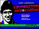 SuperStar Soccer ZX Spectrum Loading screen