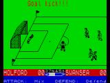 SuperStar Soccer ZX Spectrum And now going to the keeper