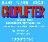 Choplifter! NES Title screen