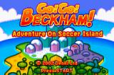 Go! Go! Beckham! Adventure On Soccer Island Game Boy Advance Title screen.
