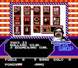 Clash at Demonhead NES Buy items in the Super Shop