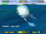 Championship Surfer Windows Arcade has many objects (as well as divers) you must steer away from, or the board might break