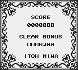 Puzznic Game Boy Round 1 clear, you get a password