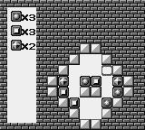 Puzznic Game Boy Moving a block down here limits your options