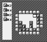 Puzznic Game Boy Pieces can't be moved in the hole to the right