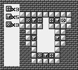 Puzznic Game Boy Stacking the blocks in the right way is vital