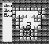 "Puzznic Game Boy Press ""select"" to change from shapes to numbers"