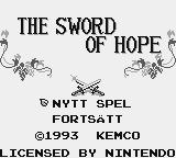 The Sword of Hope Game Boy Swedish title screen