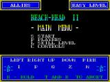 Beach-Head II: The Dictator Strikes Back ZX Spectrum Main menu