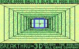 3-D Brickaway Commodore 64 Level 1