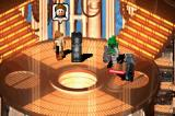 LEGO Star Wars II: The Original Trilogy Game Boy Advance Han Solo frozen, with Leia, Boba Fett and Darth Vader watching