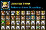 LEGO Star Wars II: The Original Trilogy Game Boy Advance An half-complete character screen. While it has a lot more than the prequel, a lot of the are the same character with different clothes on