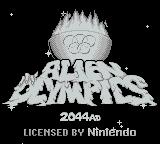 Alien Olympics Game Boy Title Screen