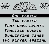 Alien Olympics Game Boy The Main Menu