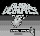 Alien Olympics Game Boy When the game is over, your final score is displayed