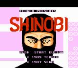 Shinobi NES Title screen.