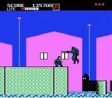 Shinobi NES Those ninjas will jump suddenly off the watter. Duck to avoid their attacks.