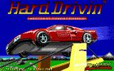 Hard Drivin' DOS title screen - VGA
