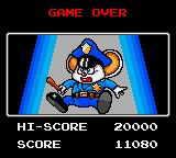 Mappy Game Gear Game over