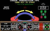 Hard Drivin' DOS choose a transmission type - EGA