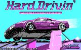 Hard Drivin' DOS title screen - CGA