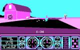Hard Drivin' DOS cars blend into the background with 4 colors - CGA