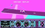 Hard Drivin' DOS instant replay of a jump - CGA