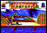 Xyphoes Fantasy Amstrad CPC A vulture picks at the slain swordmaster