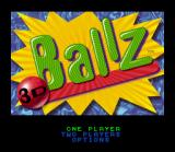 Ballz 3D: Fighting at its Ballziest SNES Title screen / Main menu.