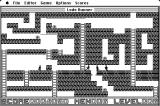 Lode Runner Macintosh In-game action.