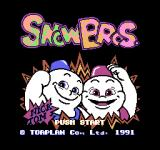 Snow Bros. Nick & Tom NES Japanese title screen