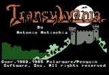 Transylvania Apple II Title screen (1985 version)