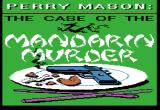 Perry Mason: The Case of the Mandarin Murder Apple II Title screen.
