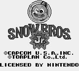 Snow Bros. Nick & Tom Game Boy American title screen