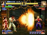 The King of Fighters '99: Millennium Battle PlayStation Mai calls Takuma to attack Mary with his Chou Hissatsu Tengu Shikou Ken, but this attempt fails...