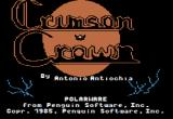 The Crimson Crown Apple II New title screen (Comprehend version).