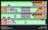 Psycho Soldier Commodore 64 Attacking enemies in level 1