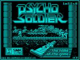 Psycho Soldier ZX Spectrum Loading screen