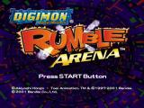 Digimon Rumble Arena PlayStation Title screen.