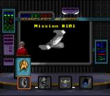 Star Trek: Starfleet Academy - Starship Bridge Simulator SNES The classroom screen; where mission briefings & debriefings take place along with Q&A from the class