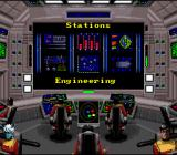 Star Trek: Starfleet Academy - Starship Bridge Simulator SNES Different starship stations are selectable from this menu