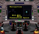 Star Trek: Starfleet Academy - Starship Bridge Simulator SNES The navigation menu, which will change with every mission